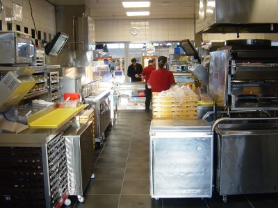 Fast food restaurant flooring